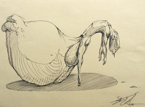 Original Art by Made514 - The Weight Of Pleasure 2 - Original Sketch
