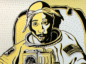 Art by Madsteez - Two Print Set - SpaceWEENpac - Gold + Silver Editions