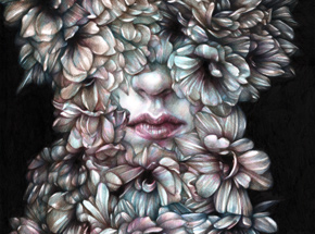 Original Art by Marco Mazzoni - Comma, Dedicated to V