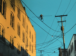 Art by Mark Brabant - Aerialists On W. 24th - Variant