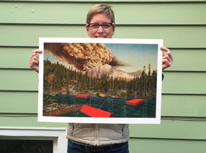Art Print by Mary Iverson - Mount Rainier - Standard Edition