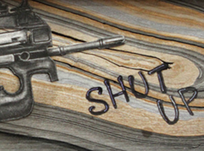 Original Art by Mary Williams - The Littlest Voice Has the Biggest Gun