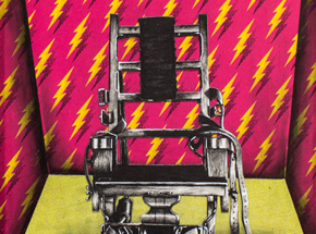 Original Art by Mary Williams - Electronic Chair with Matching Wallpaper