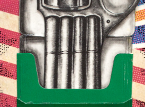 Original Art by Mary Williams - Tiny James Bond Cigarette Gun