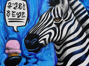 Original Art by Max Neutra - Sweet Treat With Zebra - Original Painting
