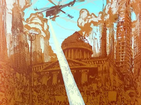 Art Print by Mear One - Global Uprisings