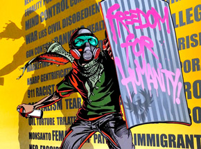 Art Print by Mear One - Freedom For Humanity - Standard Edition