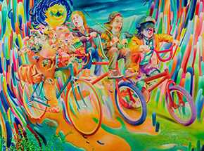 Art Print by Michael Page - Fisherman's Ride - Hand-Embellished Edition