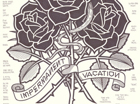 Original Art by Mike Giant - Black Roses (Impermanent Vacation)