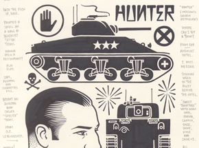 Original Art by Mike Giant - Hunter - Original Artwork