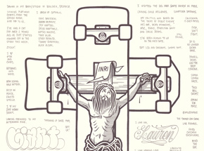 Original Art by Mike Giant - Jesus Died (So We Could Ride)