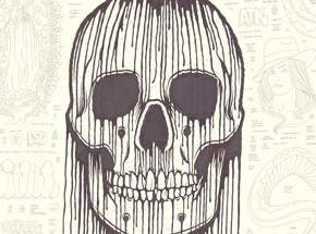 Original Art by Mike Giant - Large Skull