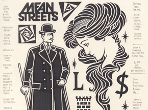 Original Art by Mike Giant - Mean Streets - Original Artwork