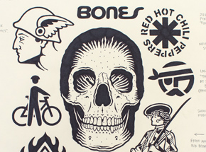 Original Art by Mike Giant - Bones - Original Artwork