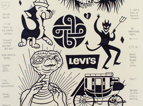 Original Art by Mike Giant - Levi's - Original Artwork