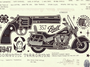 Original Art by Mike Giant - Domestic Terrorism