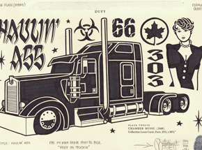 Original Art by Mike Giant - Haulin Ass