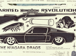 Original Art by Mike Giant - Niagara Drags
