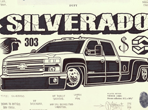 Original Art by Mike Giant - Silverado