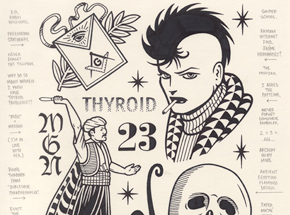 Original Art by Mike Giant - Thyroid - Original Artwork