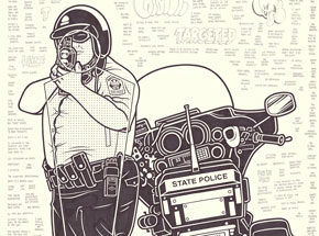Original Art by Mike Giant - Traffic Cop