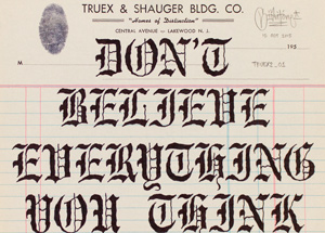 Original Art by Mike Giant - Truex2_01 - Letterhead