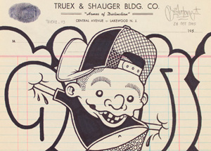 Original Art by Mike Giant - Truex2_03 - Letterhead
