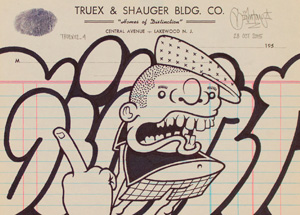 Original Art by Mike Giant - Truex2_04 - Letterhead