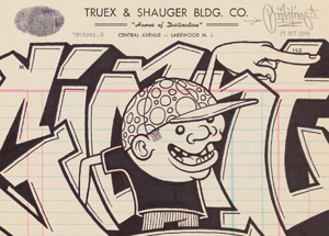 Original Art by Mike Giant - Truex2_05 - Letterhead