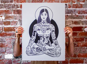 Art Print by Mike Giant - Yogini - 18x24 Inch Edition