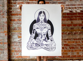 Art Print by Mike Giant - Yogini - 34x44 Inch Edition