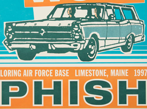Art by Modern Dog - Phish - The Great Went Aug. 16th & 17th, 1997 at Loring Air Force Base Limestone, ME