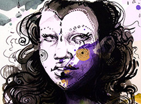 Art Print by The Heliotrope Foundation - Molly Crabapple - Baby Doll