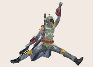 Art Print by Naturel - Air Boba Fett - 44 x 44 Inch Edition