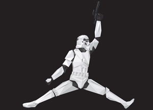 Art Print by Naturel - Air Storm Trooper - 17 x 17 Inch Edition