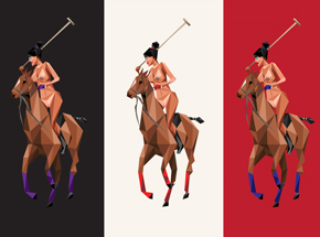 Art Print by Naturel - Thoroughbred - 3 Print Set