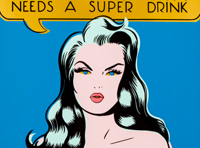 Art by Niagara - Super Woman Needs A Super Drink - Gold