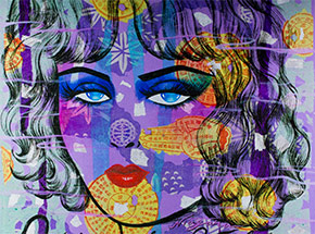 Art Print by Niagara - Opium Des Violets - Metal Edition