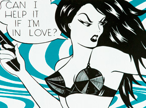 Art Print by Niagara - Teal Edition - Can I Help It If I'm In Love?
