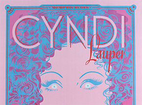 Art Print by Niagara - Artist Proof - Cyndi Lauper at The Greek Theatre, August 27, 2010 - Concert Poster