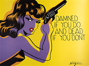Art Print by Niagara - Poster - Damned If You Do and Dead If You Don't - 35 x 27 Inch Poster