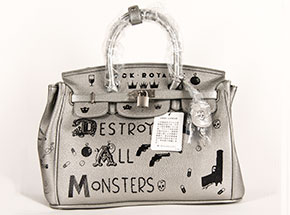 Art by Niagara - Destroy All Monsters Silver Edition Bag