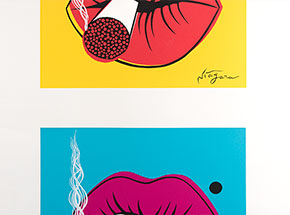 Art by Niagara - Niagara's Very First Print - Double Hot Lips - Uncut Editions