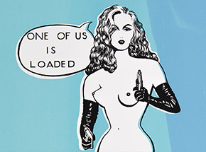 Art Print by Niagara - Limited Edition Print - One Of Us Is Loaded - Variant II