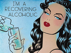 Art by Niagara - Artist Proof - I'm A Recovering Alcoholic