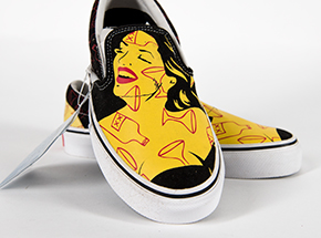Clothing by Niagara - M3.5 / W5 - Yellow Woman With Red Martini - Slip-Ons