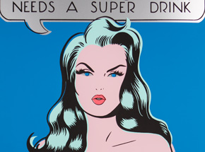 Art by Niagara - Super Woman Needs A Super Drink - Silver
