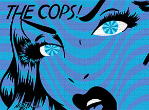 Art Print by Niagara - The Cops - Blue & Cobalt - Blotter Variant