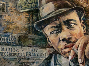Art Print by Nicole Macdonald - John Lee Hooker