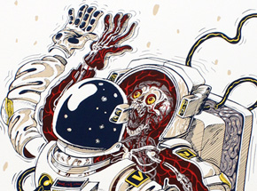 Art by Nychos - Dissection Of An Astronaut